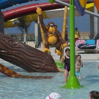 Lagune ricreative, Spray Park, giochi d'acqua, giochi spruzzanti, scivolo